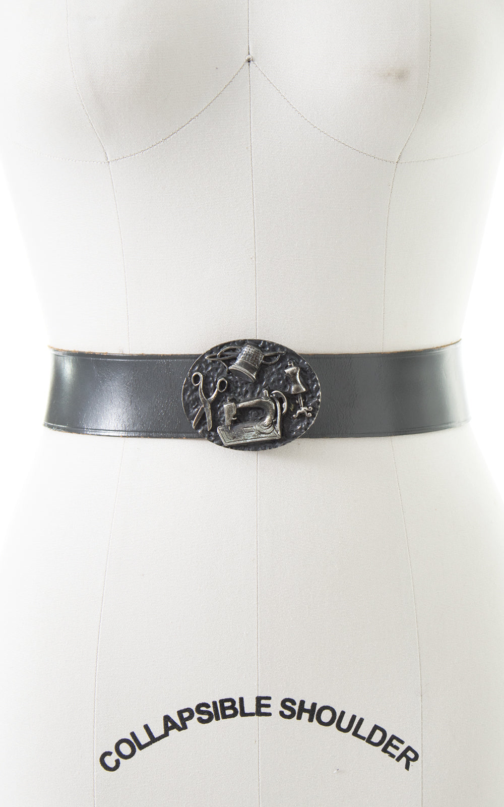 1950s Calderon Sewing Novelty Leather Cinch Belt