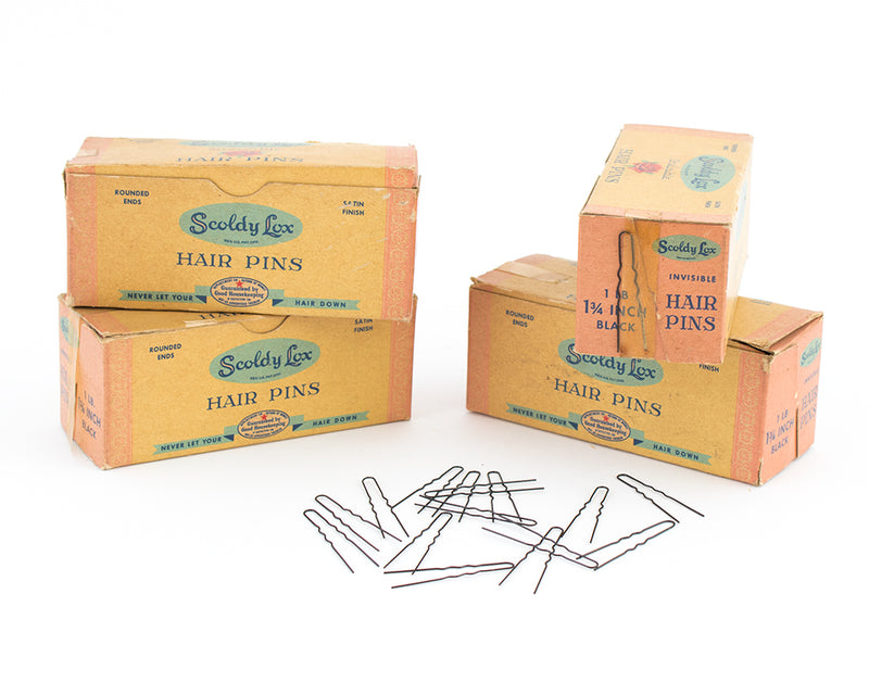 Deadstock 1940s Scoldy Lox Hair Pins (1lb box)