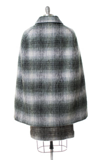 1970s Plaid Mohair Cape & Skirt Set