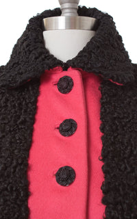 1940s Wool & Persian Lamb Fur Princess Coat