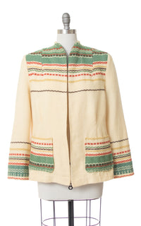 1960s Scandinavian Woven Wool Jacket | medium