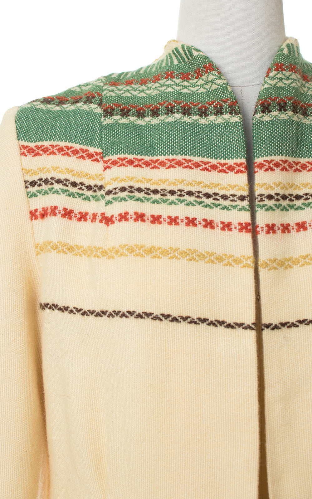 SOLD || 1960s Scandinavian Woven Wool Jacket | medium