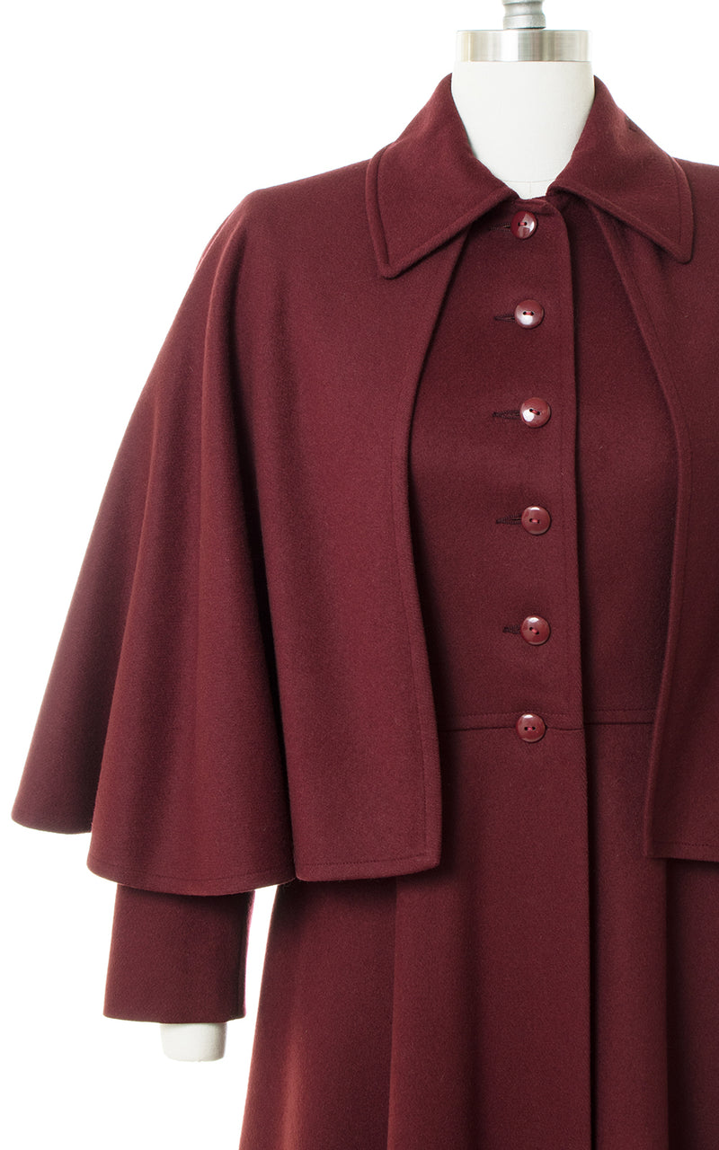 1970s Saint Laurent Wool Capelet Coat