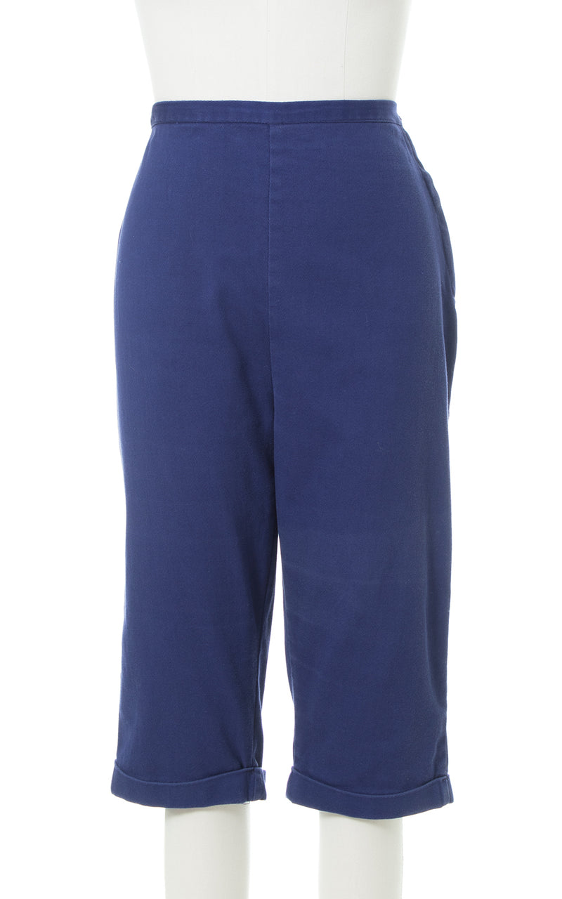 1950s Navy Blue Cotton Capris