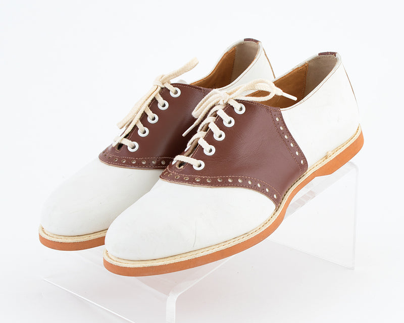 1950s Two-Tone Leather Saddle Shoes