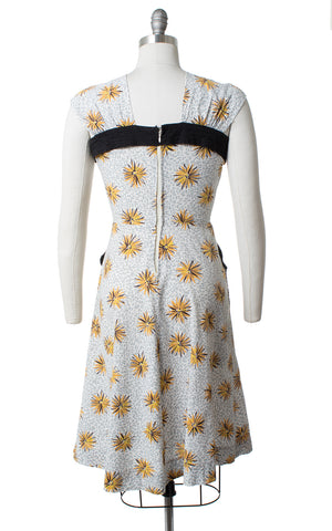 1940s Floral Starburst Sundress with Pockets | small
