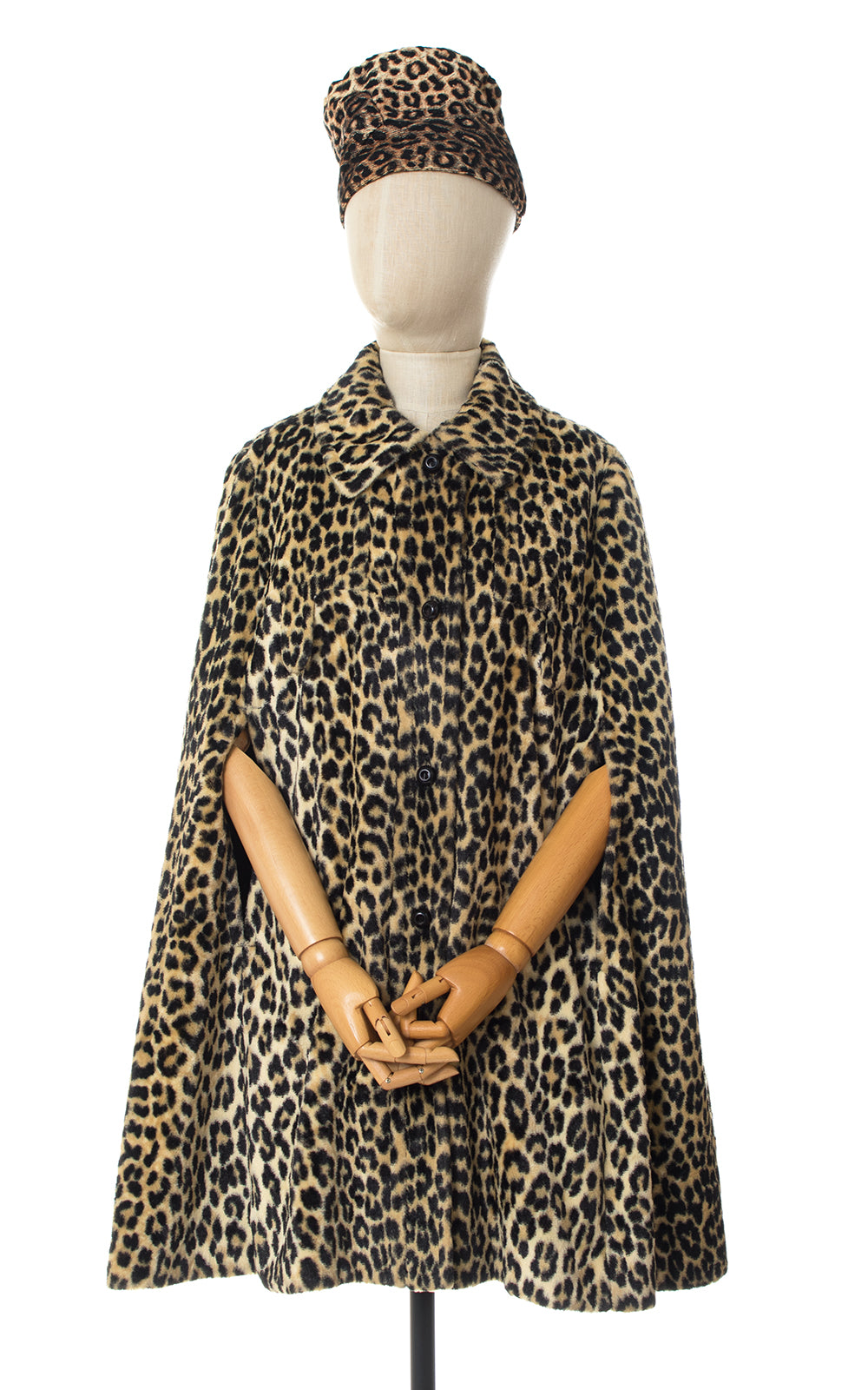 1960s Leopard Print Faux Fur Coat | x-small/small/medium