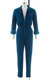 1980s Denim Zip Front Jumpsuit