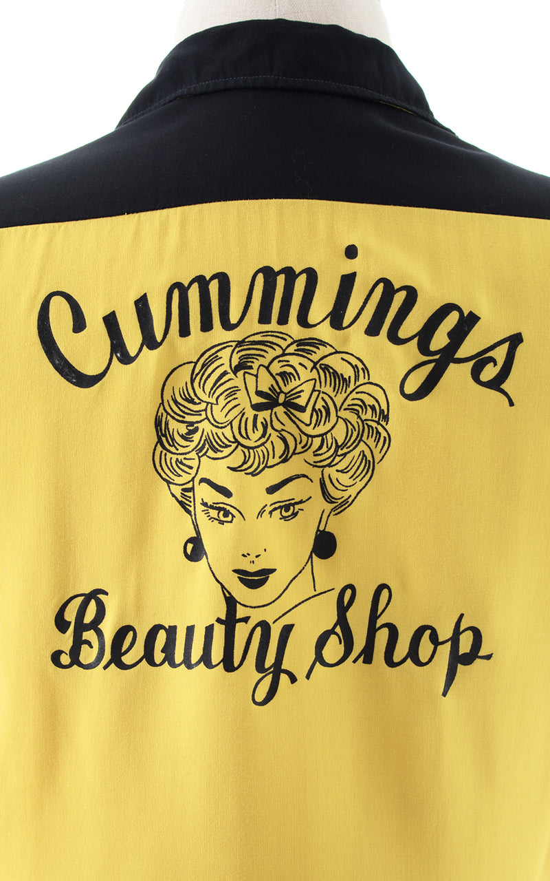 1950s Cummings Beauty Shop Bowling Shirt