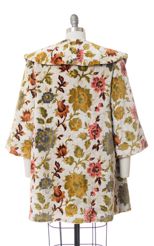 1960s Floral Tapestry Coat