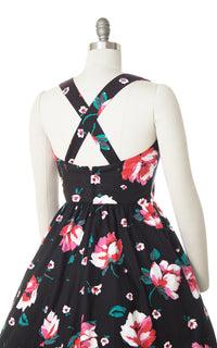 1980s Lanz Floral Criss-Cross Cotton Sundress