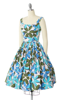1950s Oversized Floral Print Sundress
