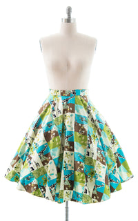 1950s Style Animals Novelty Print Circle Skirt