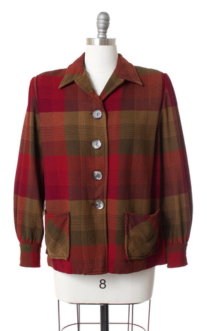 1960s Plaid Wool Pendleton 49er Jacket