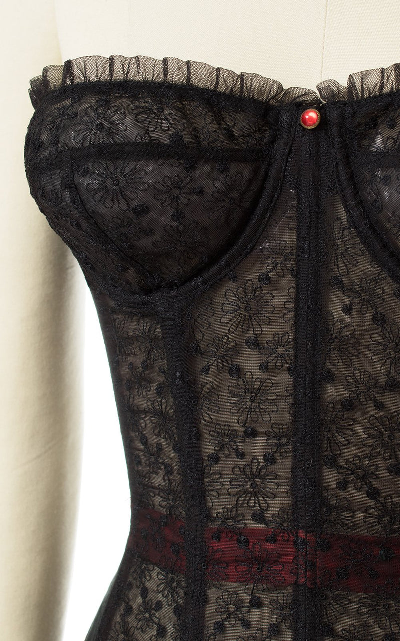 1950s Merry Widow Bustier Bra