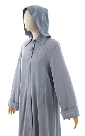 1940s Hooded Raincoat