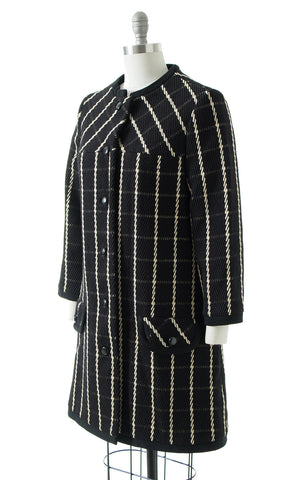 1960s Lilli Ann Plaid Wool Coat