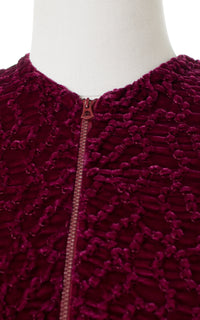 1930s Purple Silk Velvet Puff Sleeve Top