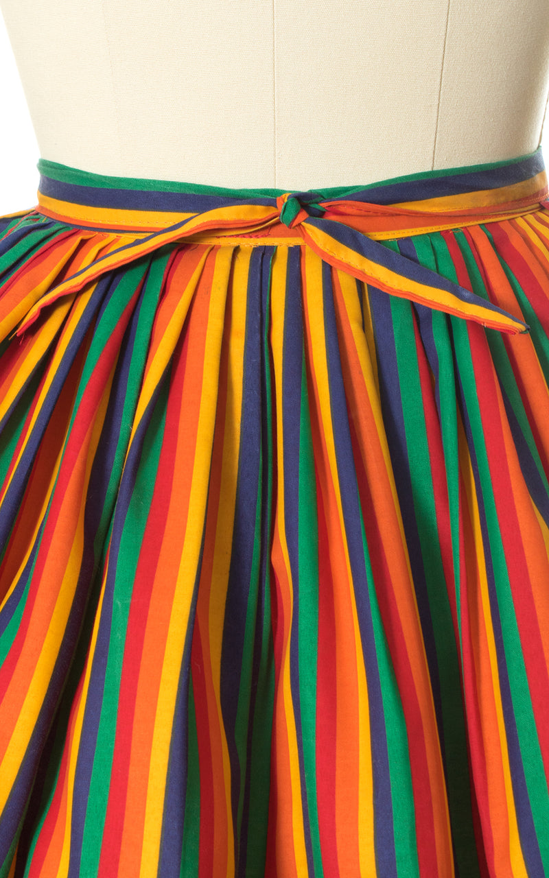 1970s Rainbow Striped Circle Skirt
