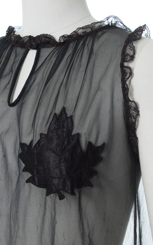 1950s Eves Leaves Novelty Sheer Nightie