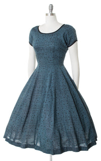 ♦ SOLD ♦ 1950s Square Plaid Dress | medium