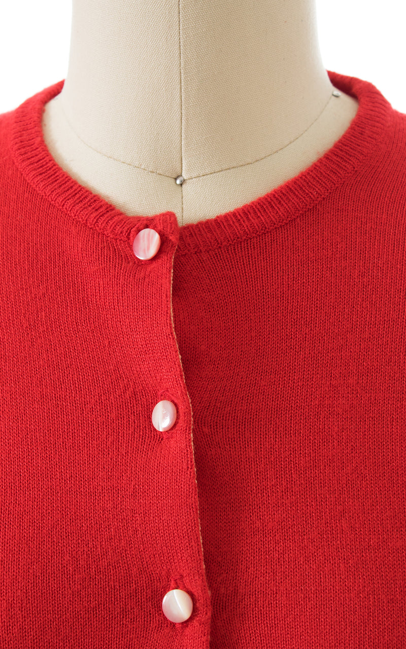 1950s Red Knit Cardigan
