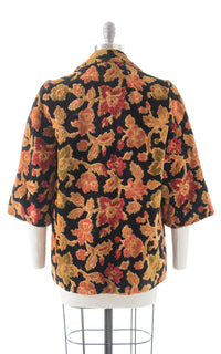 1970s Floral Tapestry Swing Coat