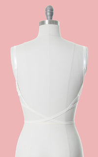 1960s Open Back Bullet Bra for Backless Garments | size 34C