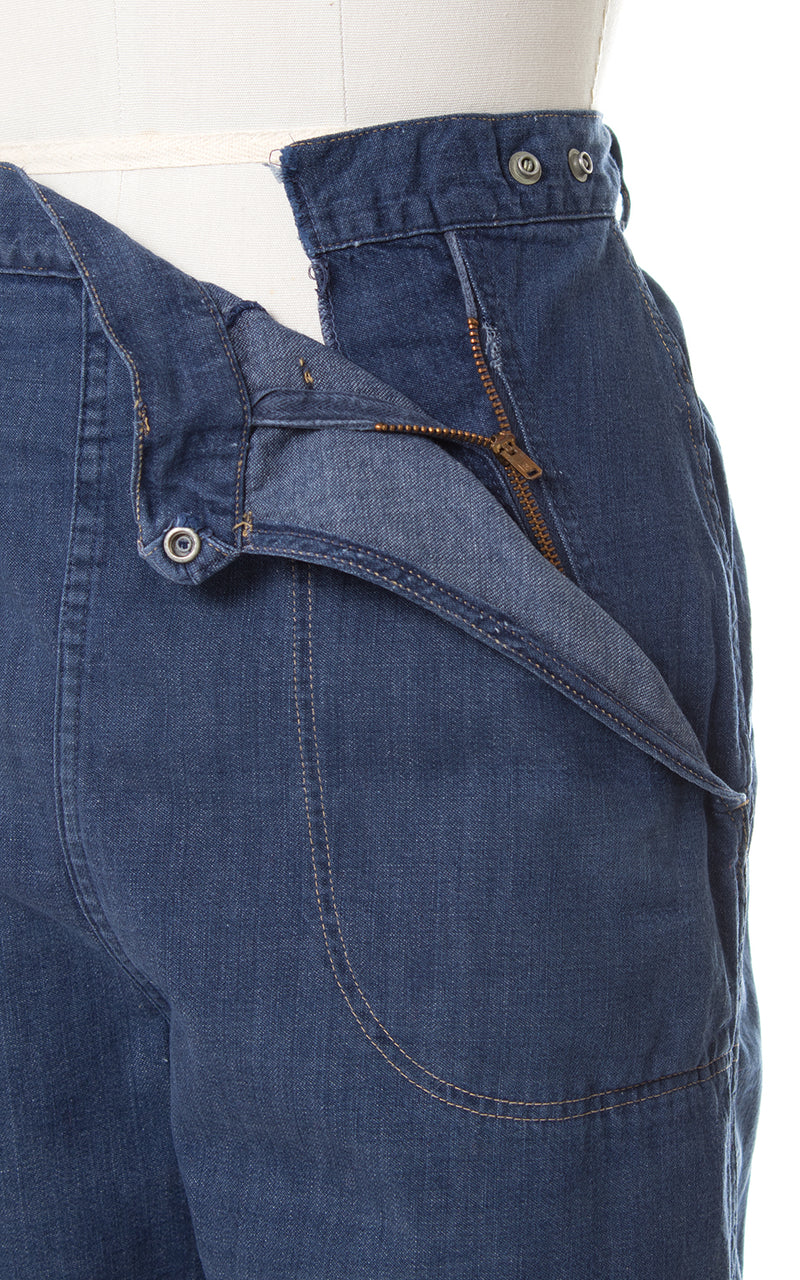 1950s Side Zip Denim Jeans