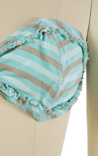 1950s Striped Mint Green Cotton Sun Bra