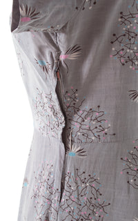 1950s Dandelion Grey Rayon Dress
