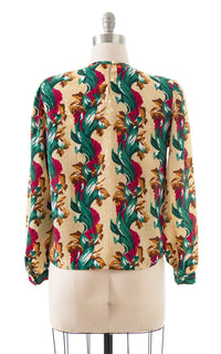 1980s does 1940s Floral Blouse