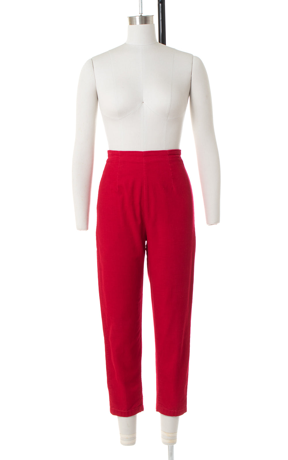 1950s Red Corduroy Capri Pants