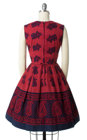 1950s Floral Paisley Sundress