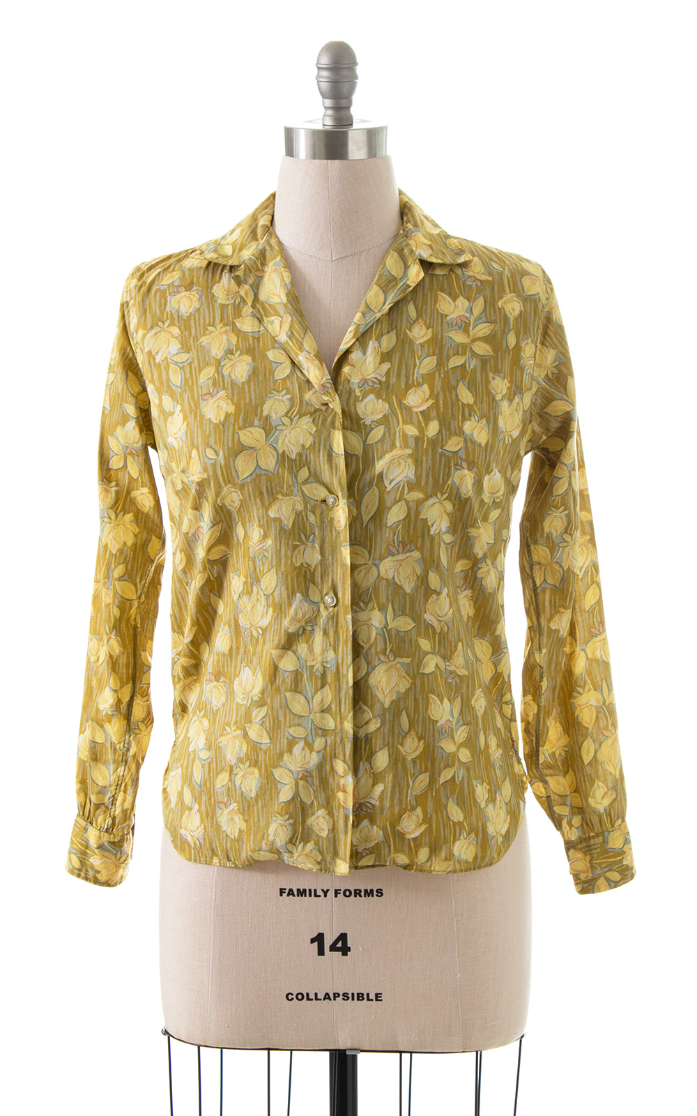 1950s 1960s Liberty of London Rose Blouse