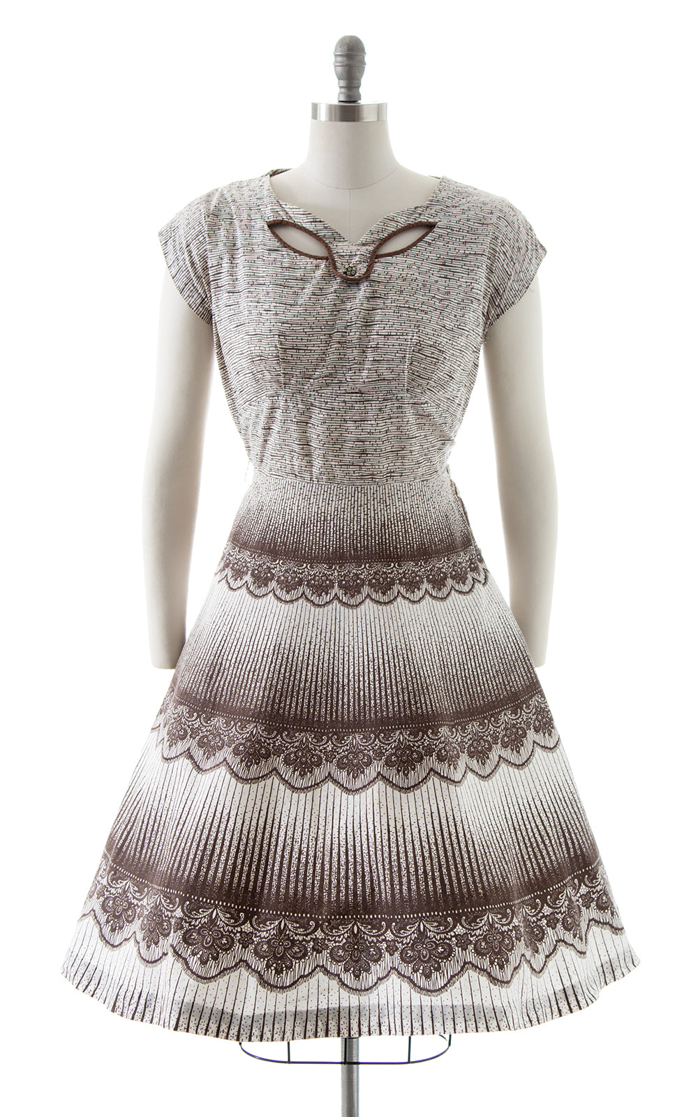 1950s Lace Trompe L'oeil Dress
