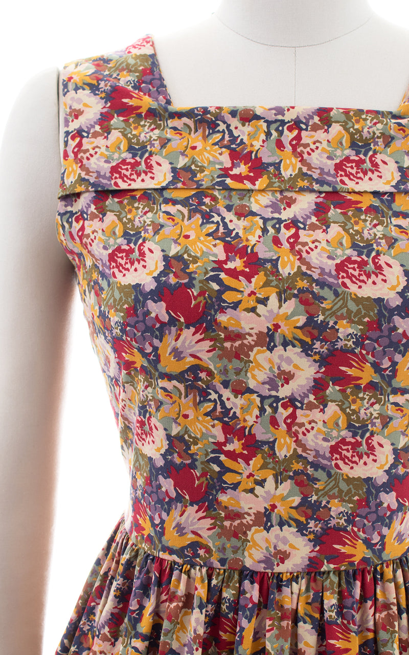 1980s 1990s Laura Ashley Floral Cotton Sundress with Pockets
