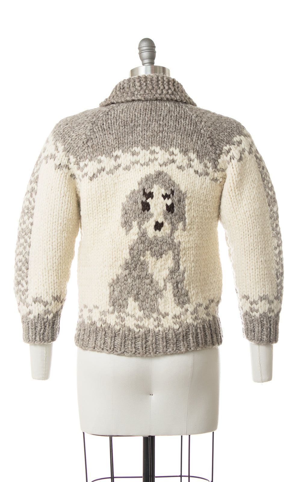 Vintage Dog Novelty Knit Wool Cowichan Sweater