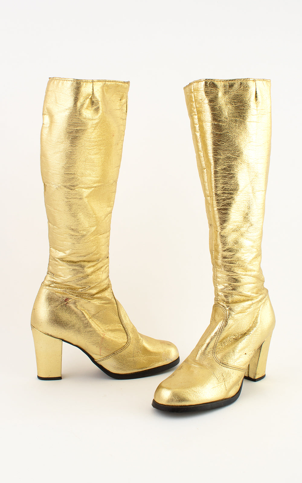 1960s Metallic Gold Go Go Boots