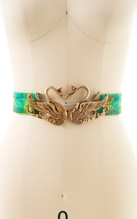 1960s Kissing Swans Cinch Belt