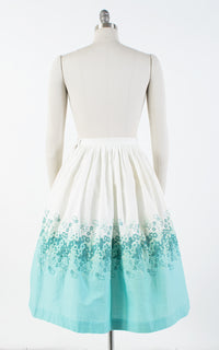 1950s Floral Embroidered Skirt