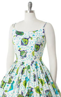 1950s Candy Jars Novelty Print Sundress