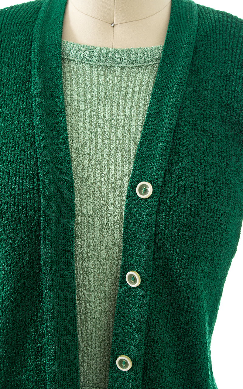 1970s Knit Faux Sweater Set