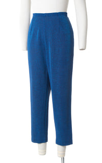 1950s Metallic Blue Lurex Cigarette Pants