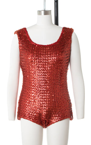 1960s Red Sequin Bodysuit