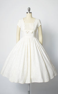 1950s Lace Tulle Cupcake Wedding Dress X Small Birthday Life Vintage