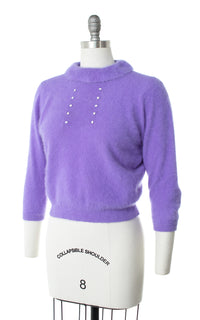1950s Angora Knit Cropped Sweater