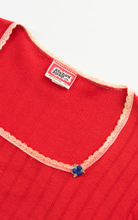 1970s Red Puff Sleeve T-Shirt