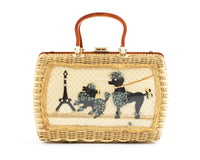 1950s Poodle & Eiffel Tower Novelty Box Purse by Atlas