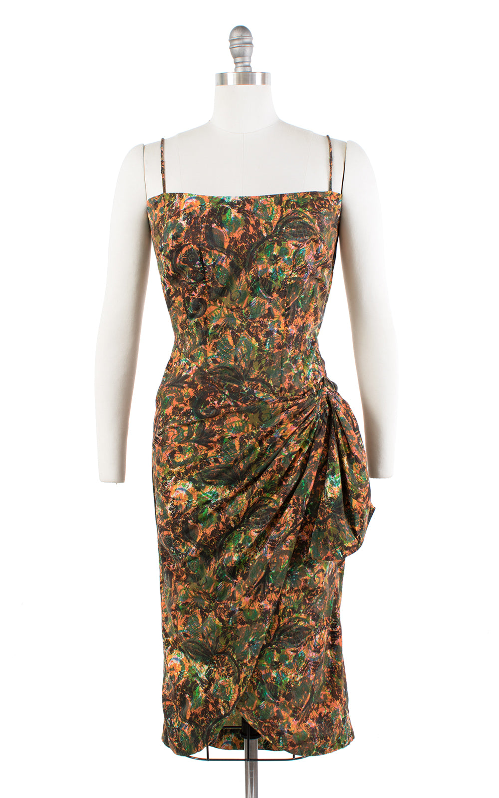 1960s Abstract Printed Cotton Sarong Sundress